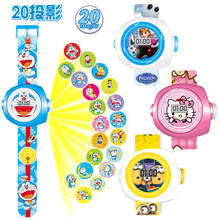 1PCS Newest Funny Children Electric Toys Anime Hello Kitty Iron Man Hulk Figures 20 Images LED Digital Watch Girls Boys Gifts
