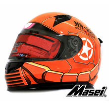 MASEI 850 Orange zaku full face helmet motorcycle helmet mens womens helmet ABS high quality racing DOT ECE approved helmet