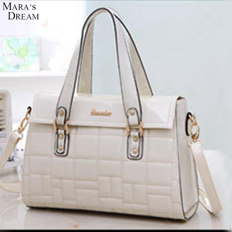 Maras Dream Bag Handbags Women Brands Soft PU Leather Zipper Soild Color Lattice Sweet Women Shoulder Bag Messenger Bag Handbag<br><br>Aliexpress
