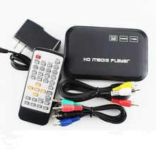 Gift Free Shipping! HD601 3D 1080p Full HD Media Player SD/USB Reader Output HDMI/VGA/AV FLV MKV Music