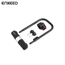Enkeeo Cycling U Lock MTB Road Bike Helmet Lock Bicycle Prevent Theft Lock Safety Security Tools Bicycle Accessory(China)