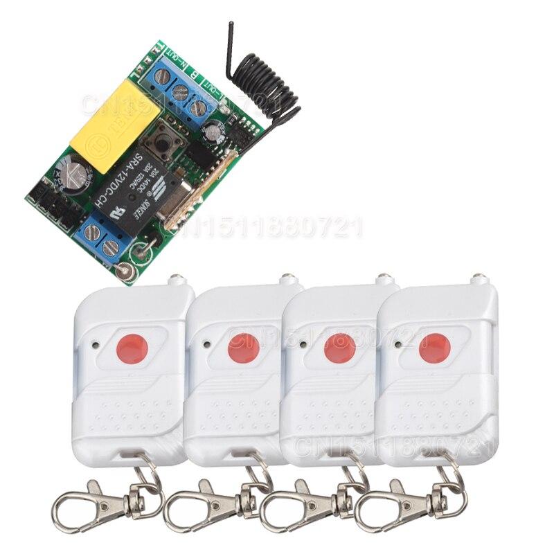 Smart house 220V 1CH RF wireless remote control light switch system With 4 transmitter z-wave<br><br>Aliexpress