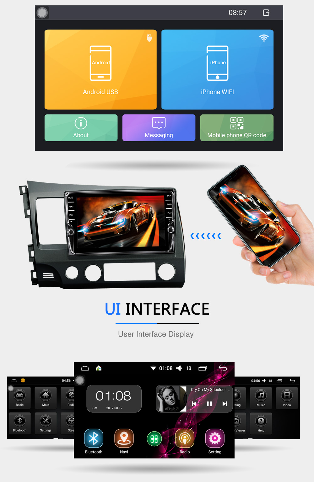 Junsun 7 2 Din Android Car DVD Radio Multimedia Play Universal For Nissan GPS Navi Headunit Radio Stereo Video Player No DVD