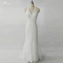 RSW1285 Halter Neckline Lace Backless Wedding Dress Mermaid Wedding Gowns(China)