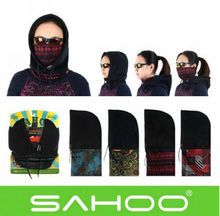 SAHOO Hiking Bike Bicycle Neck Warm Protect Face Mask Guard Fleece Hoodie Cap Hat Free shipping