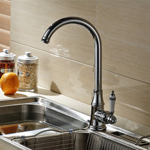 New chrome Kitchen faucet ceramic handle sink tap kitchen Mixer Taps Ceramic surface Deck Mount sink tap water faucet marble tap
