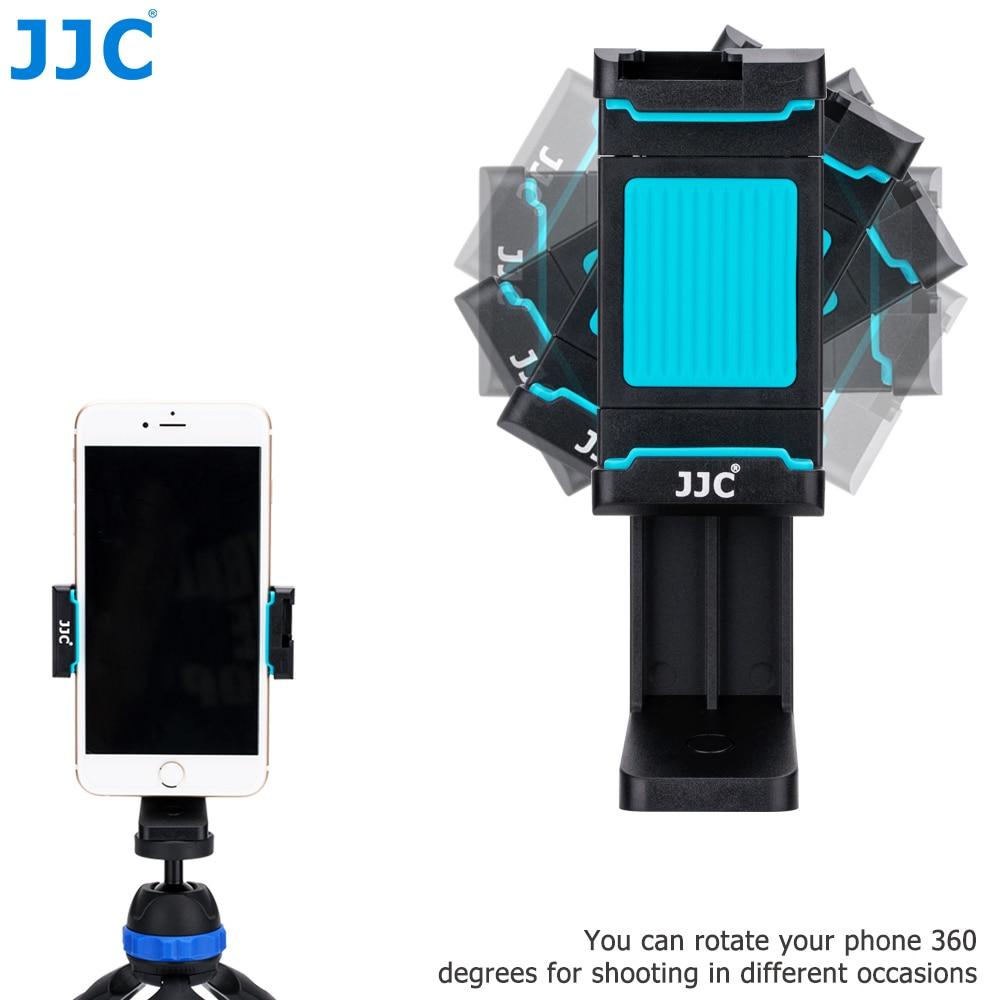 JJC Smart Phone Stand 56-105mm Adjustable Clip Selfie Stick Mini Tripod Mount Phones Holder for iPhone/HUAWEI/MI/Samsung