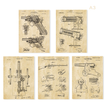 Vintage weapon guns and cannon sets  5 in 1  Train sketch up Nursery train Wall Art classic weapon art