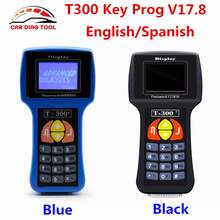 Special Offer V17.8 T300 Car Key Programmer T-300 T-Code Support Multi-Brands T 300 Auto Key Transponder With English/Spanish(China)