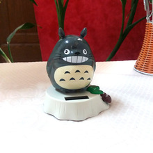 Free Shipping Retail Package Swing  Under Full Light No Battery  Solar Powered  Rocking Totoro Style Novelty Cartoon Doll