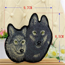 Kids clothes Iron on Patches For boys clothes & girls clothes Animal Embroidered Patches Badge Wolf Dog Logo Free Shipping