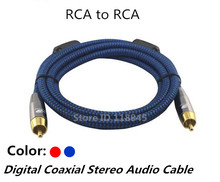 1m 2m 3m 5m 8m - Stereo RCA to RCA Digital Coaxial Audio Cable For Subwoofer Video RCA Braided Sheiled Extension Wire Cords(China)