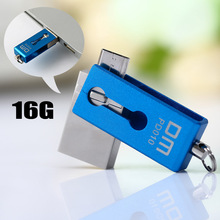 Stylish 2 in 1 DM PD010 16G 32GB USB 2.0 to Micro USB U Disk Memory Stick Flash Memory Storage Device Pen Drive(China)