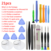 Buy Spudger Pry Opening Tool Screwdriver Set iPhone X 8 7 6S 6 Plus Hand Tools Set 21 1 Mobile Phone Repair Tools Kit for $4.03 in AliExpress store