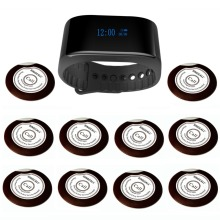 SINGCALL Wireless Hotel Bank Service System paging system pager restaurant 1 service watch 10 waiter call buttons