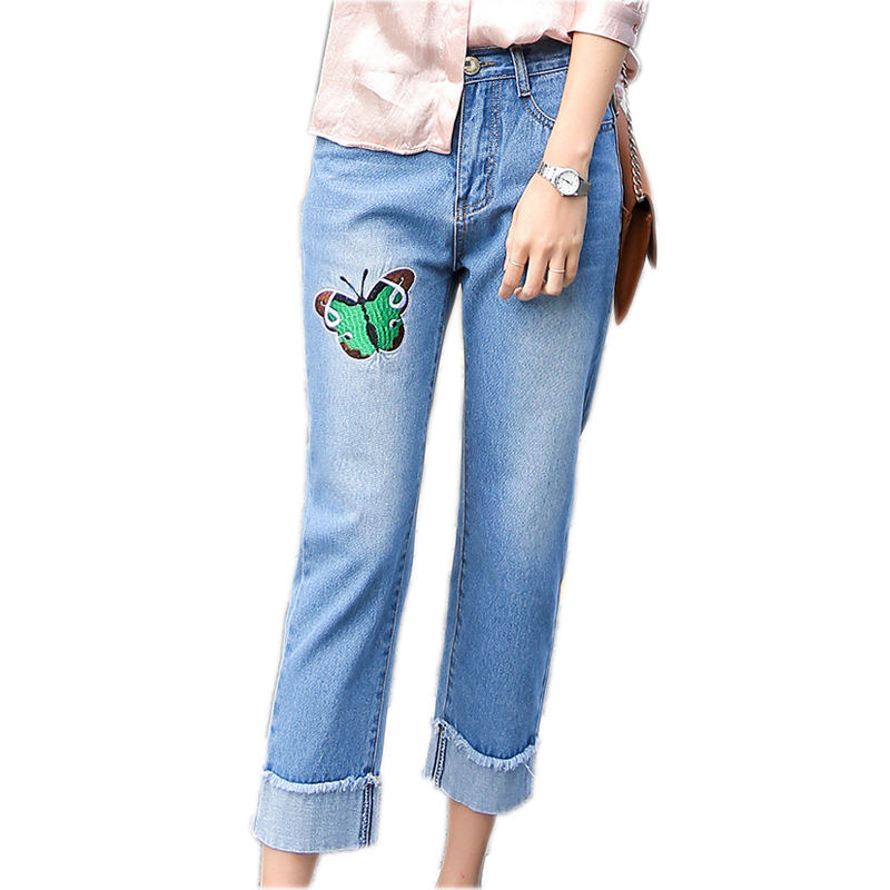 Summer-Women-Jeans-Buerfly-Embroidery-Straight-Waist-Denim-Pants-Women-Fashion-Wash-Jeans-Women-Pants