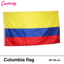 Colombia Colombian flag 3*5FT/90*150cm Hanging banner Office/Activity/parade/Festival/Home Decoration 2016 New fashion(China)