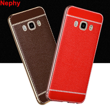 Nephy High Quality Case For Samsung Galaxy J5 2016 J7 2016 J510 J710 Duos Mobile Phone Cover Soft Leather Casing Housing Etui(China)