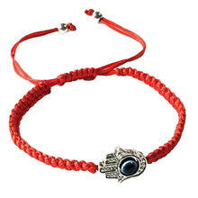 Handmade Braided Rope Bracelets Red Thread Blue Eye Charm Bracelets Bring You Lucky Peaceful Bracelets Adjustable Length(China)