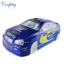 1/10 RC car 190mm on road drift rally Subaru Body Shell Blue(China)