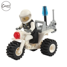 27 Pcs Kids Mini Motorcycle Toys Children DIY Assemble Police Vehicle Baby Small Bricks Models Boy Girl Learning Educational Toy