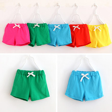 Children's Wear 2017 New Children's Clothing Candy Color Shorts Candy Color Like Hot Cakes Boys Girls Shorts