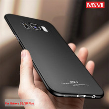 Msvii For Fundas Samsung Galaxy S8 / S8 Plus Case Hard Frosted PC 360 Full Protect Ultra Thin Back Cover For Galaxy S8 S8 Plus