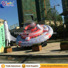 Free Delivery 7 Meters diameters giant inflatable UFO replica advertising type blow up round plane model for decoration toys(China)