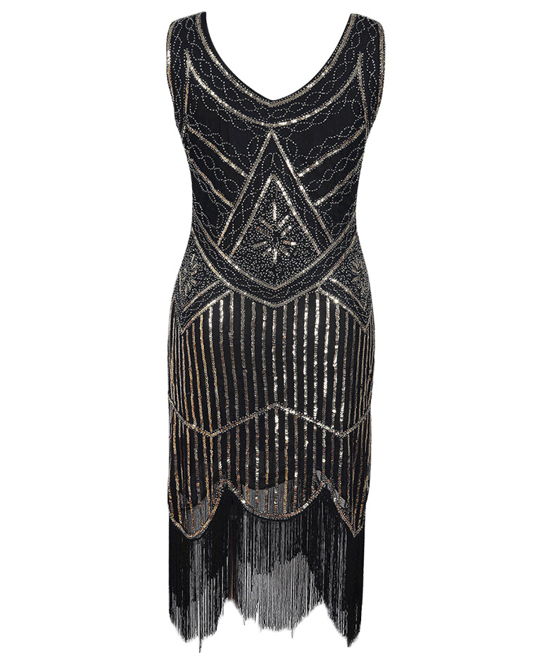 2019 2018 Newest Women S 1920s Vintage Sequin Full Fringed Deco ... 05391b484559