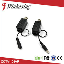 Long distance One Channel CCTV RJ45 Power Video Balun 2 in 1 Video Power Balun Transceiver(China)