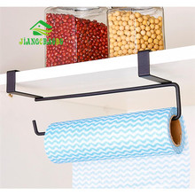 Hook Type Kitchen Roll Paper Towel Holder Storage Rack Sundries Organizer Home Storage Tools Cabinet Cupboard Tissue Shelf(China)