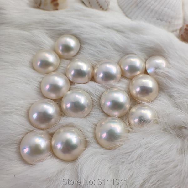 wholesale AAAA Natural south sea 8-9mm pink stud pearl earrings 14k Gold
