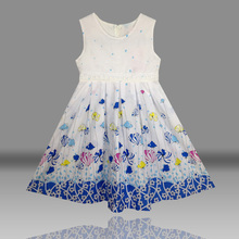 high quality 100% cotton flower girl  summer dresses girls clothes childrens clothing princess style vestidos infantis