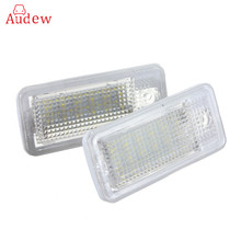 18 LED 6000K License Number Plate Light Lamp For Audi A3 S3 A4 S4 B6 B7 A6 S6 A8 Q7 NO Canbus Error