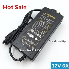 12V6A New AC 100V-240V 72W Converter power Adapter DC 12V 6A Power Supply EU/US/UK Plug DC