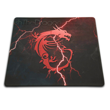 High Quality Notebook Gaming Anti-slip Mouse Pad Desktop Pad Optical Soft Silicone MSI Mat Lock Edge Mouse Mat