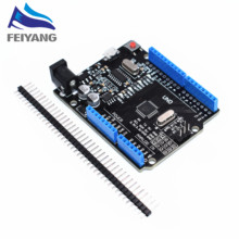 1pcs New 2016 - UNO R3 ATmega328P/CH340G MicroUSB. Compatible for Arduino UNO Rev 3.0 (hei)