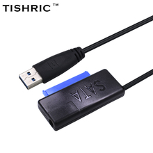 TISHRIC Black USB 3.0 to SATA iii 3 15Pin+7Pin 22Pin Adapter Cable 2.5''3.5'' SSD HDD External Hard Disk Drive Converter