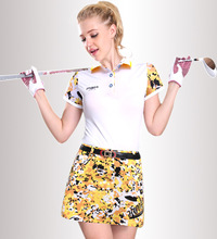 Spring and summer new PGM ladies golf costumes Golf short sleeve T shirt wholesale freeshipping(China)