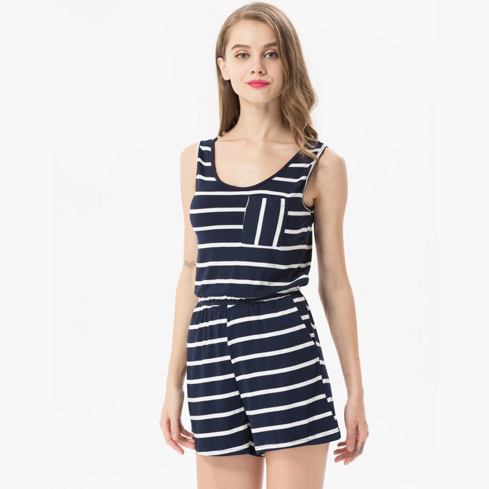 Siskakia mody młodzieżowej Letnie nastolatek dziewczyny Playsuit Przebrania paski patchwork slim fit krótkie elegancki 100% bawełna odzież różowy 12