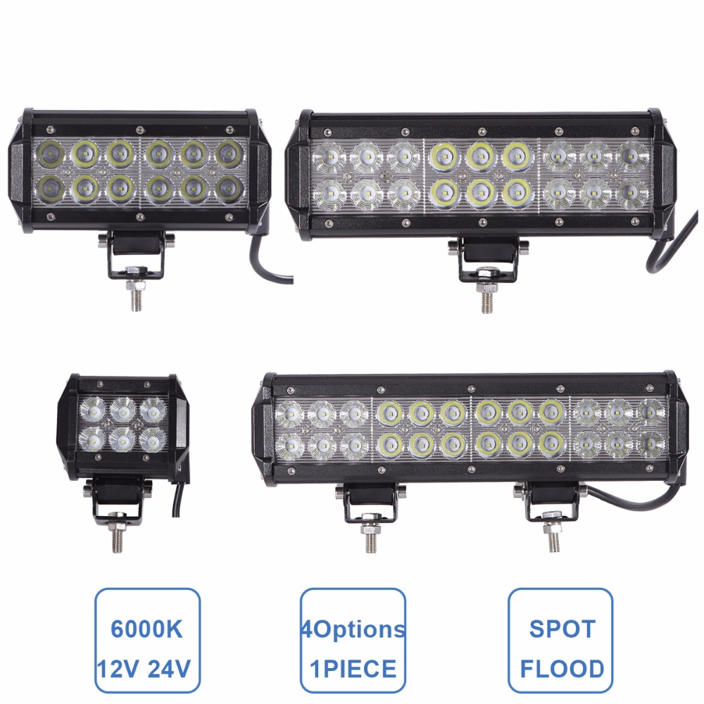 OFFROAD 18W 36W 54W 72W LED WORK LIGHT BAR CAR ATV MOTORCYCLE BOAT 4X4 4WD PICKUP WAGON TRUCK ATV SUV UTV DRIVING LAMP 12V 24V<br><br>Aliexpress
