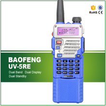 New Arrival Blue Baofeng UV-5RE Dual Band VHF UHF Walkie Talkie Long Battery Two Way Radio Free Headset