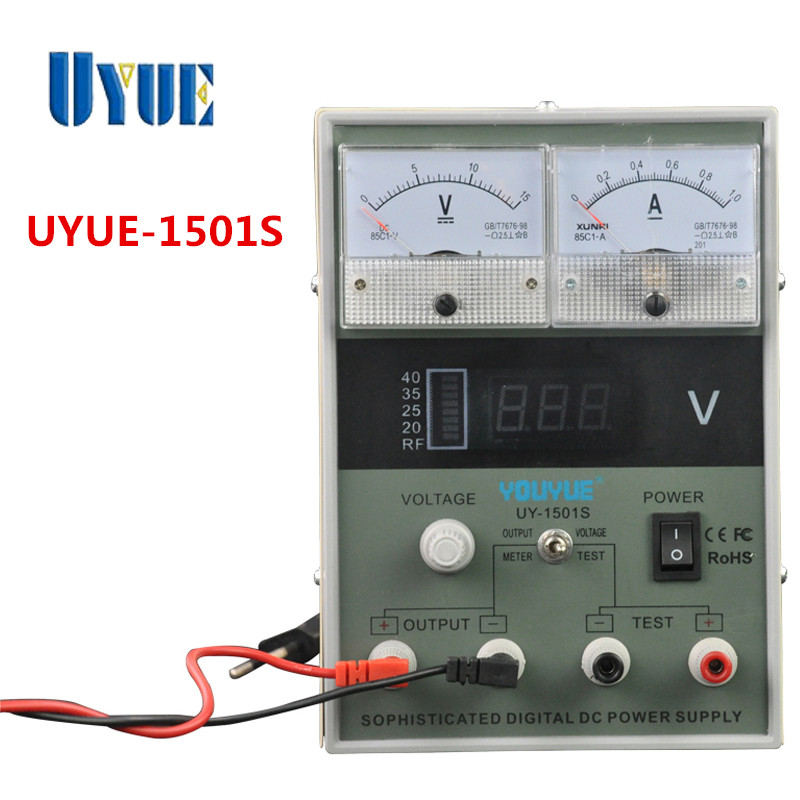UYUE 1501S Variable Voltage DC Regulated Power Supply 15V 1A Professional Repair Mobile Phone Power Supply Good Technique<br>
