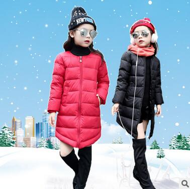 Fashion Winter High Quality Children Girl White Duck Down Jacket Kids Padded Outerwear Coat  Baby  Long Style Cultivation ParkasОдежда и ак�е��уары<br><br><br>Aliexpress