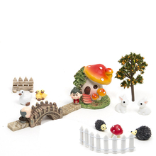 18Pcs/set Micro Landscape Home Bonsai DIY Doll House Model Succulents Decoration Fairy Garden Miniatures Terrarium Figurines(China)