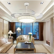 Modern Ceiling Fan  Ventilador De Teto Remote Control With Lights Invisiable LED Folding Ceiling Fan Dining Room Lamp