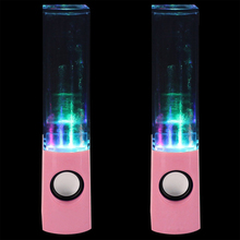 5 X 3.5mm USB Dancing Water Show LED Light Music Fountain Speaker For PC