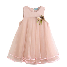 Buy Menoea Children Princess Dress 2017 new Summer Hot sale Style Kids Sleeveless Solid Color Mesh Dress Cute Girls Party Dress for $6.69 in AliExpress store