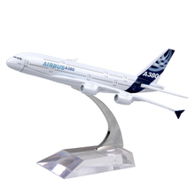 16cm Passenger Air Plane Model Airbus A380 Diecast Alloy Airplane Aircraft Kids Toys brinquedos Collectible Birthday Gifts