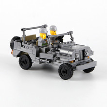 Century Military US Willys MB Jeep Airborne Force Building Block World War 2 Vehicle Model Toy Kazi  Compatible with lego